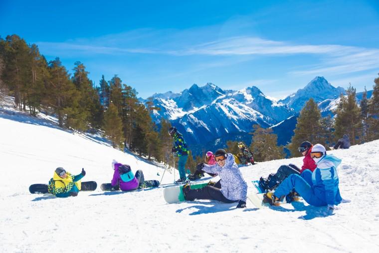 Архыз, горы, лыжи