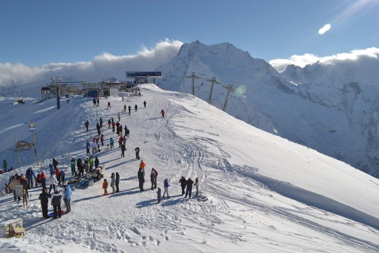 Домбай, горы, лыжи