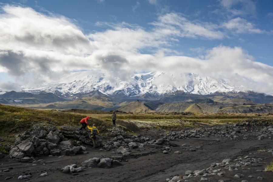 Три вулкана, Камчатка