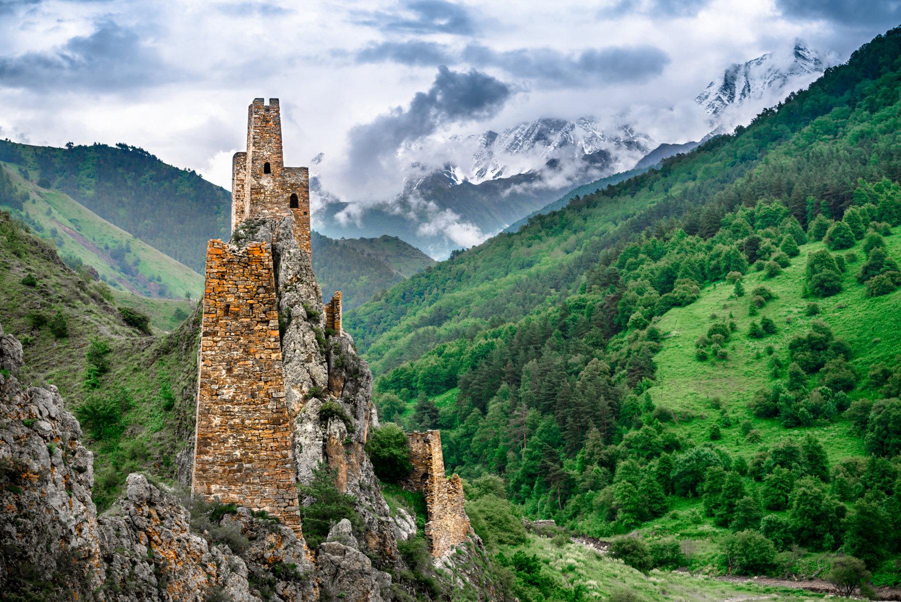 Кавказские башни картинки